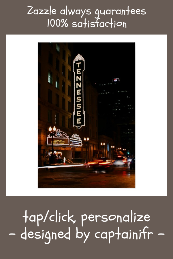 Tennessee Theater Night Poster | Zazzle.com
