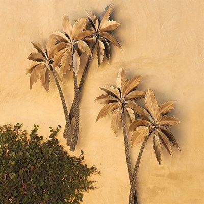 Palasari Palms Wall Sculptures by Mark Malizia. Just under 7\' tall ...