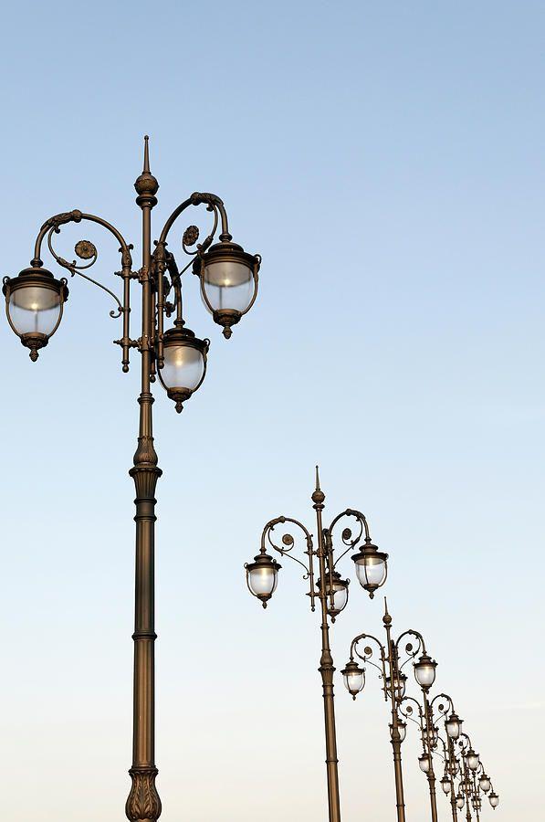 Row Of Fancy Street Lamps By Travelif Street Lamp Street Lamp Post Cool Lighting