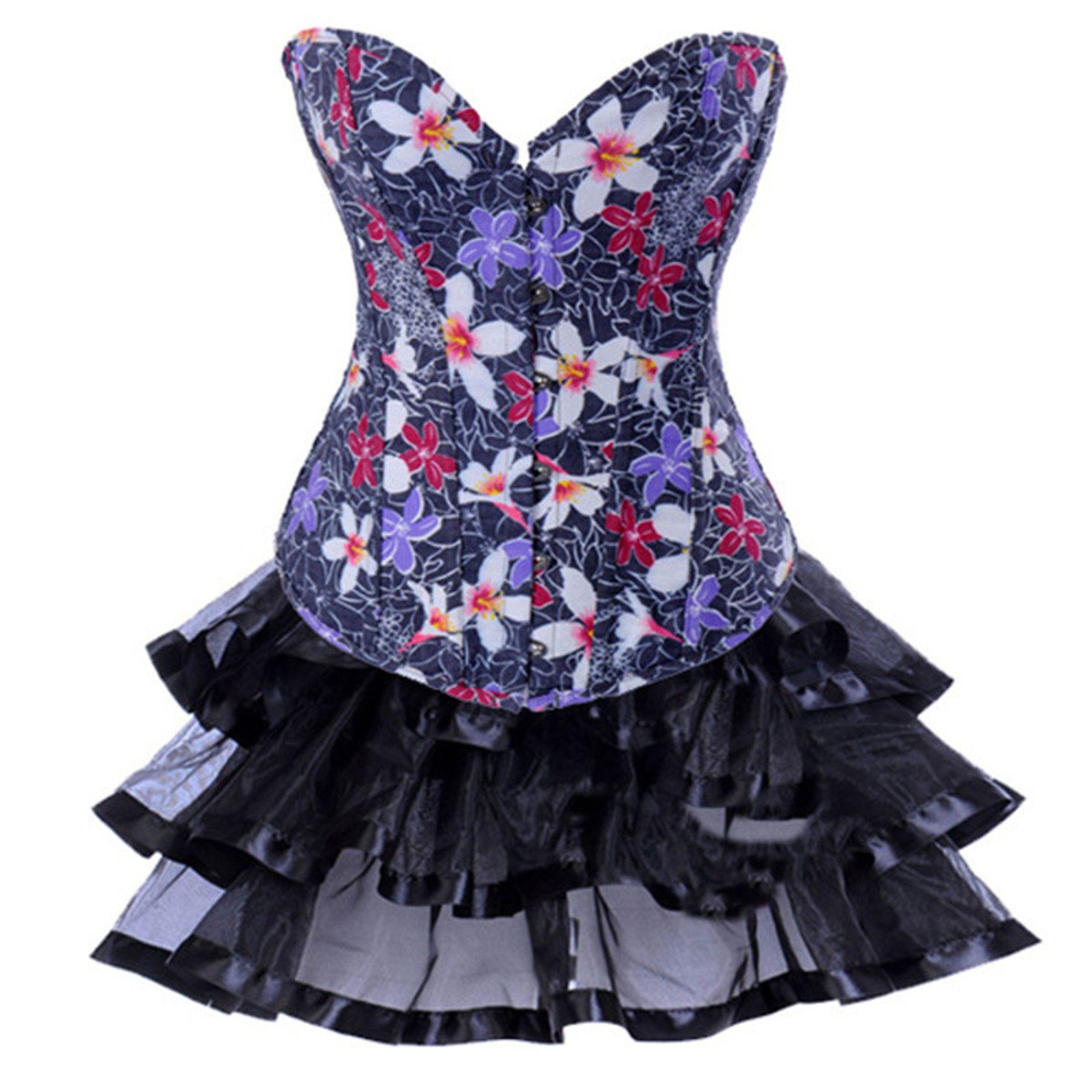 Corsets de Flores es un corpiño elegante, un bonito corset que ...
