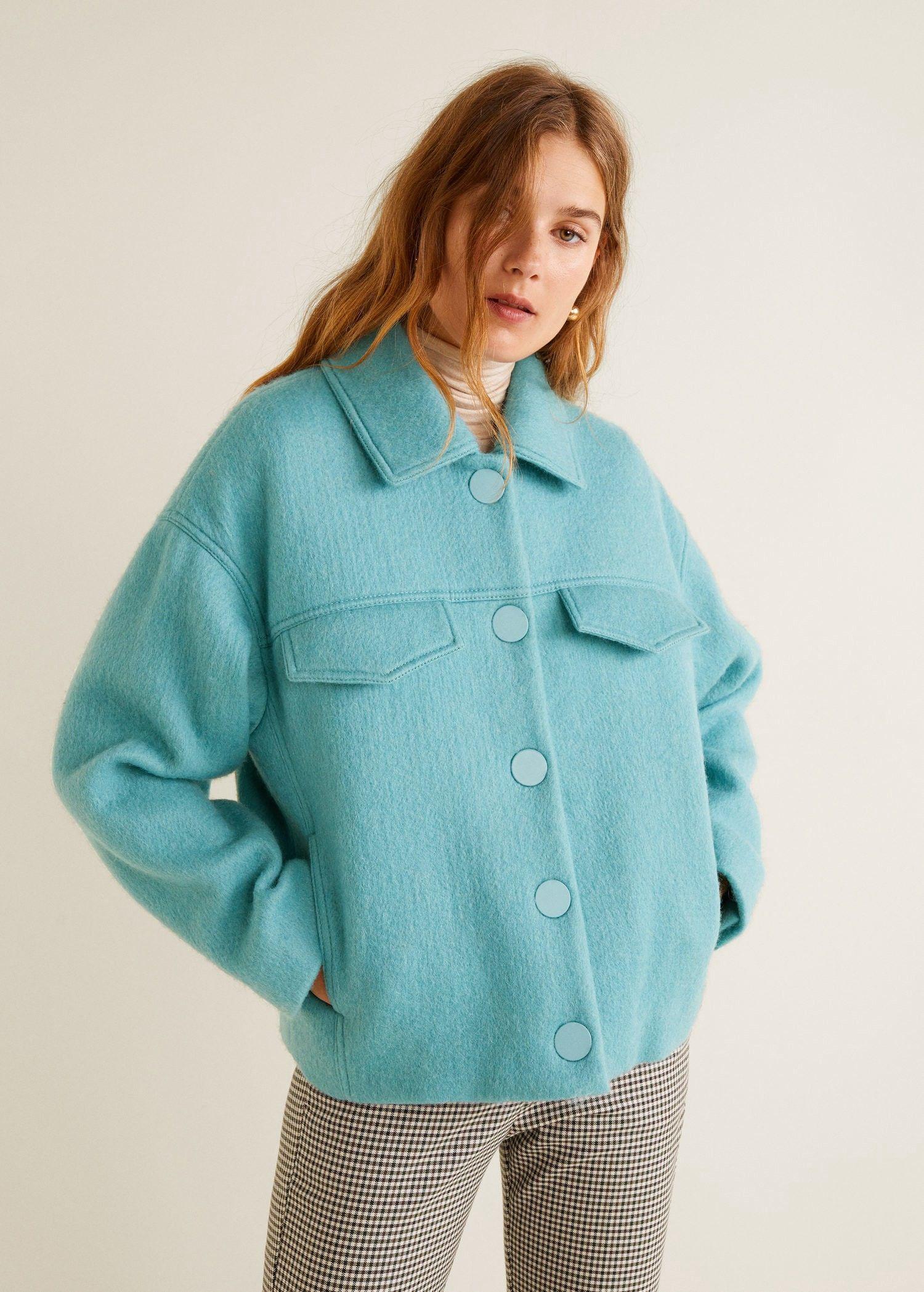 9e1cfa376c499 Mango Buttoned Wool Jacket - Grey Xs | Products | Jacket buttons ...