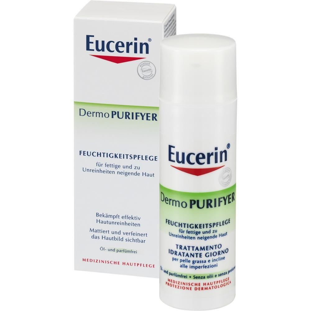 EUCERIN DermoPURIFYER Feuchtigkeitspflege Creme:   Packungsinhalt: 50 ml Creme PZN: 08760756 Hersteller: Beiersdorf AG Eucerin Preis:…