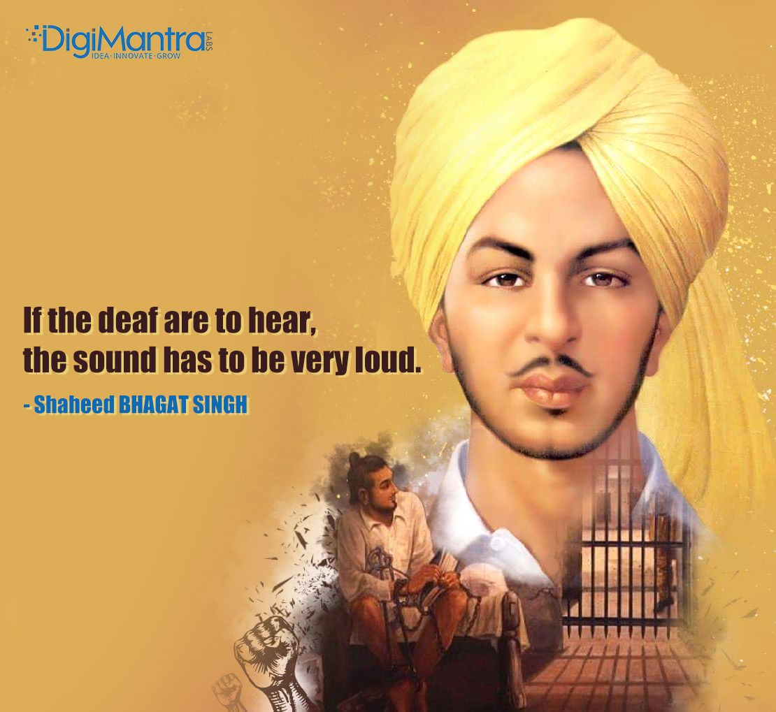 Paying tribute to ShaheedBhagatSingh, a great