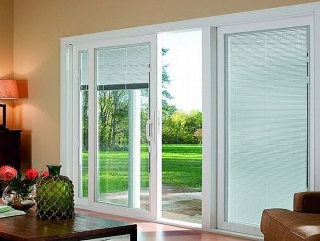 Sliding Gl Doors With Blinds Inside Them Photo