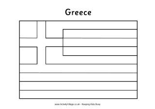 Greek Flag Colouring Page Greek Flag Flag Coloring Pages