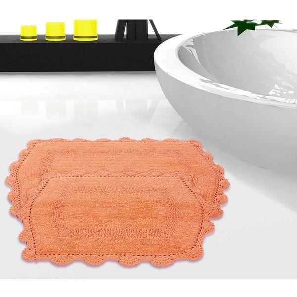 Peach Bath Rugs And Mats