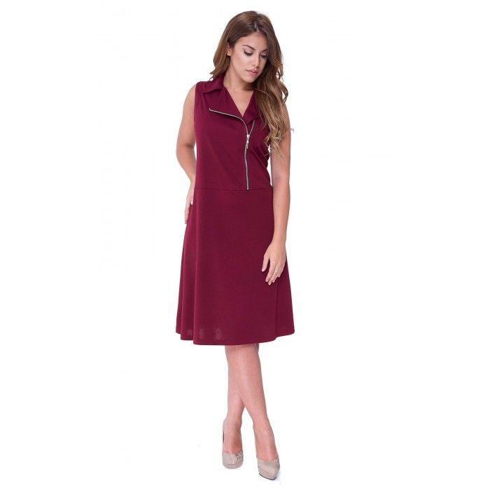ec0c64442f54 Φόρεμα midi από pundo μονόχρωμο