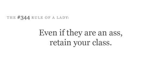 Stay classy, ladies