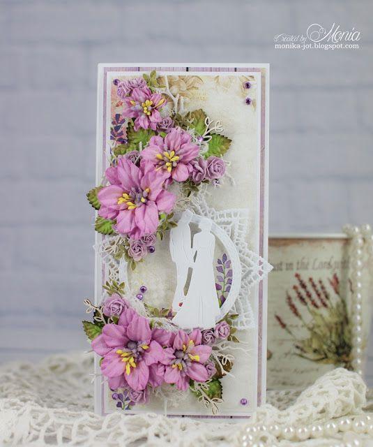 Lawendowo Na Slub Wedding Cards Lavender Wedding Paper Quilling Cards