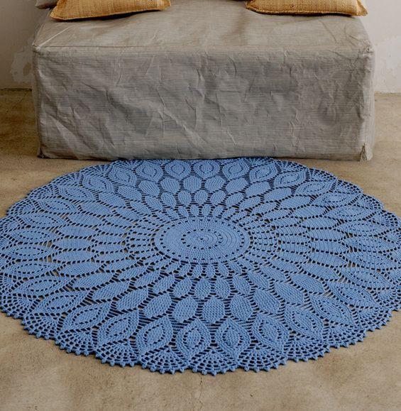 crochet doily rug crochet mat rug pattern