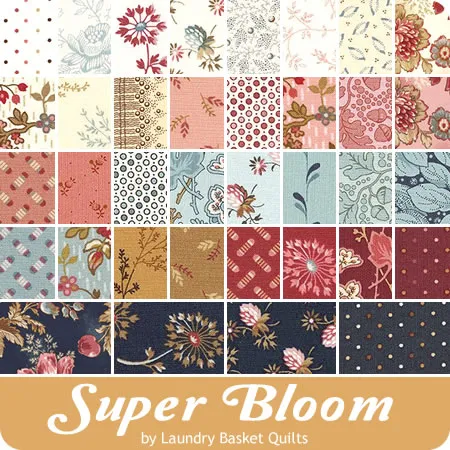 Super Bloom 10 Squares Laundry Basket Quilts For Andover