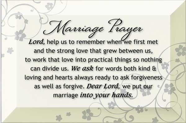 marriage prayer wall plaque white catholic weddings