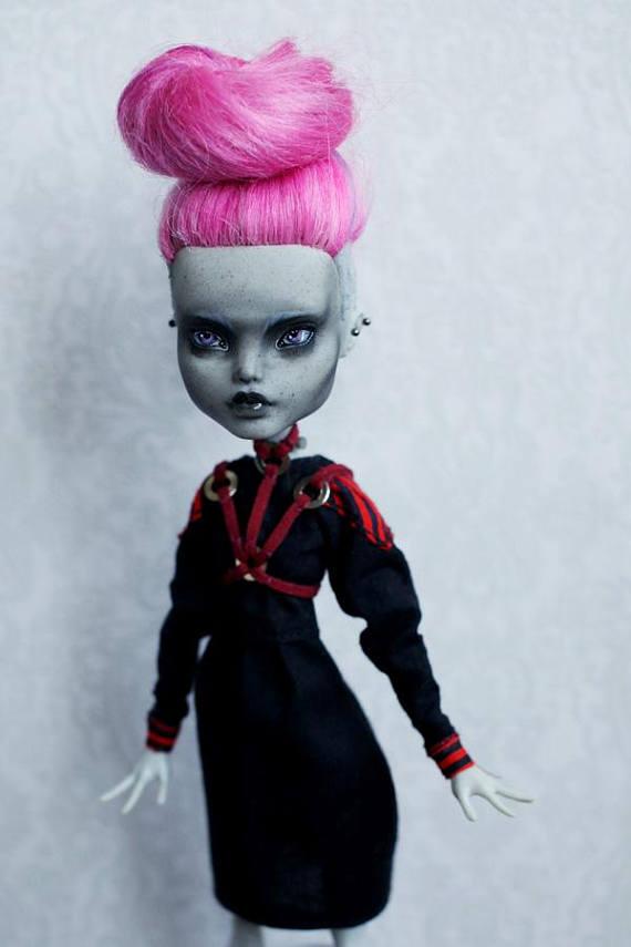 93 Ooak Monster High Repaint Doll Custom By Azhill Monster High