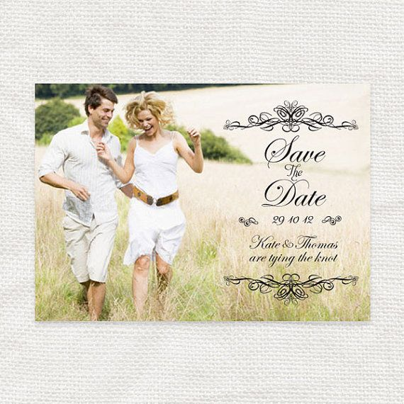 etsy, simply elegant photo save the date  printable by idoityourself, $20.00