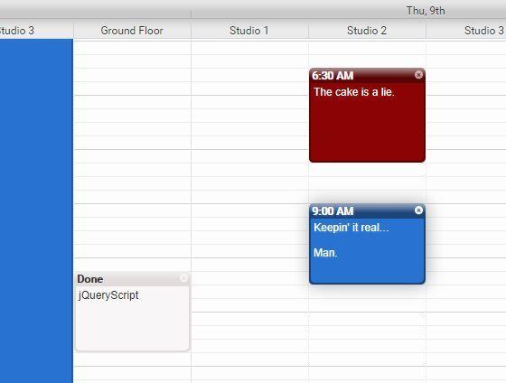 Calendarjs is a highly customizable jQuery event calendar plugin - event calendar