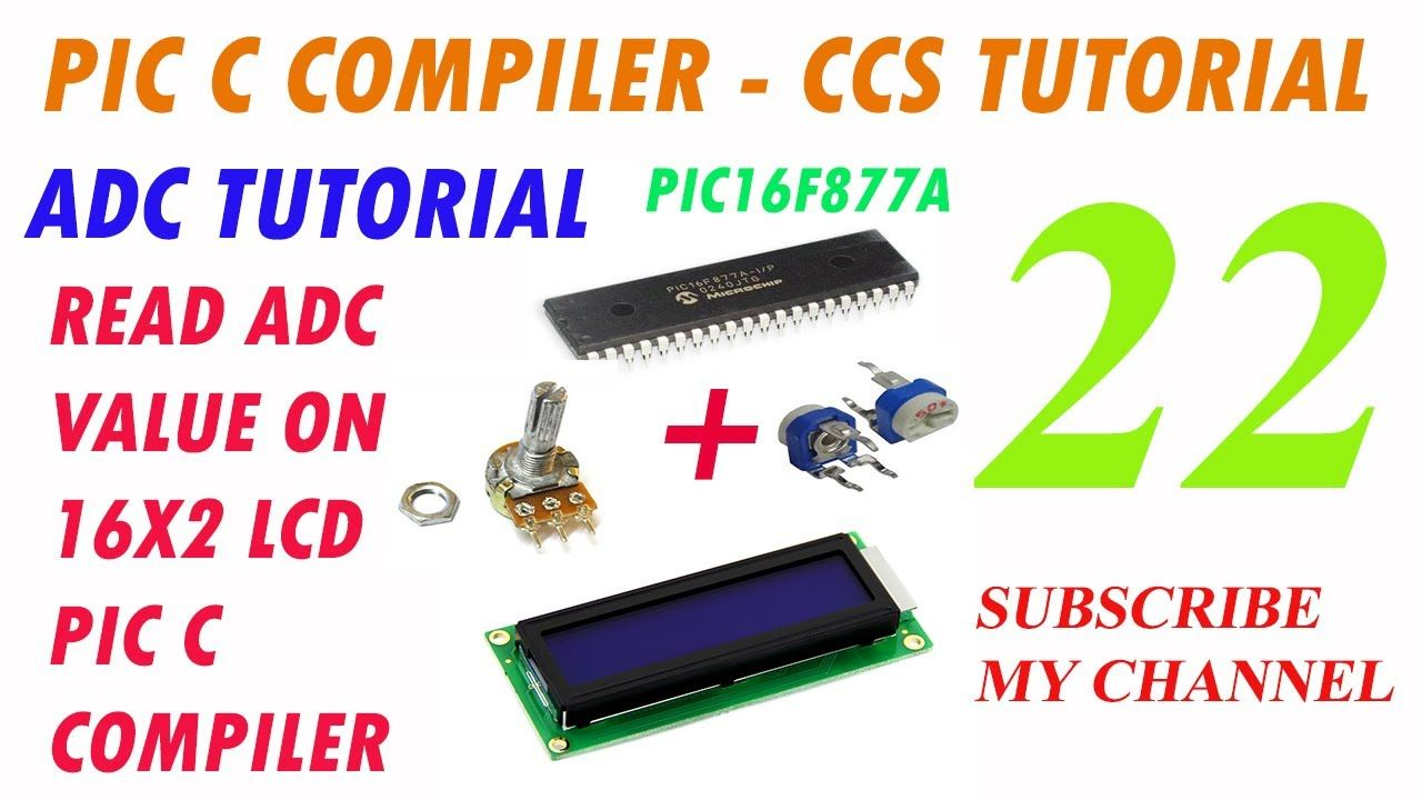 How To Read Analog Digital Converter Adc Value On 16x2 Lcd With Converters Microcontrollers Pic