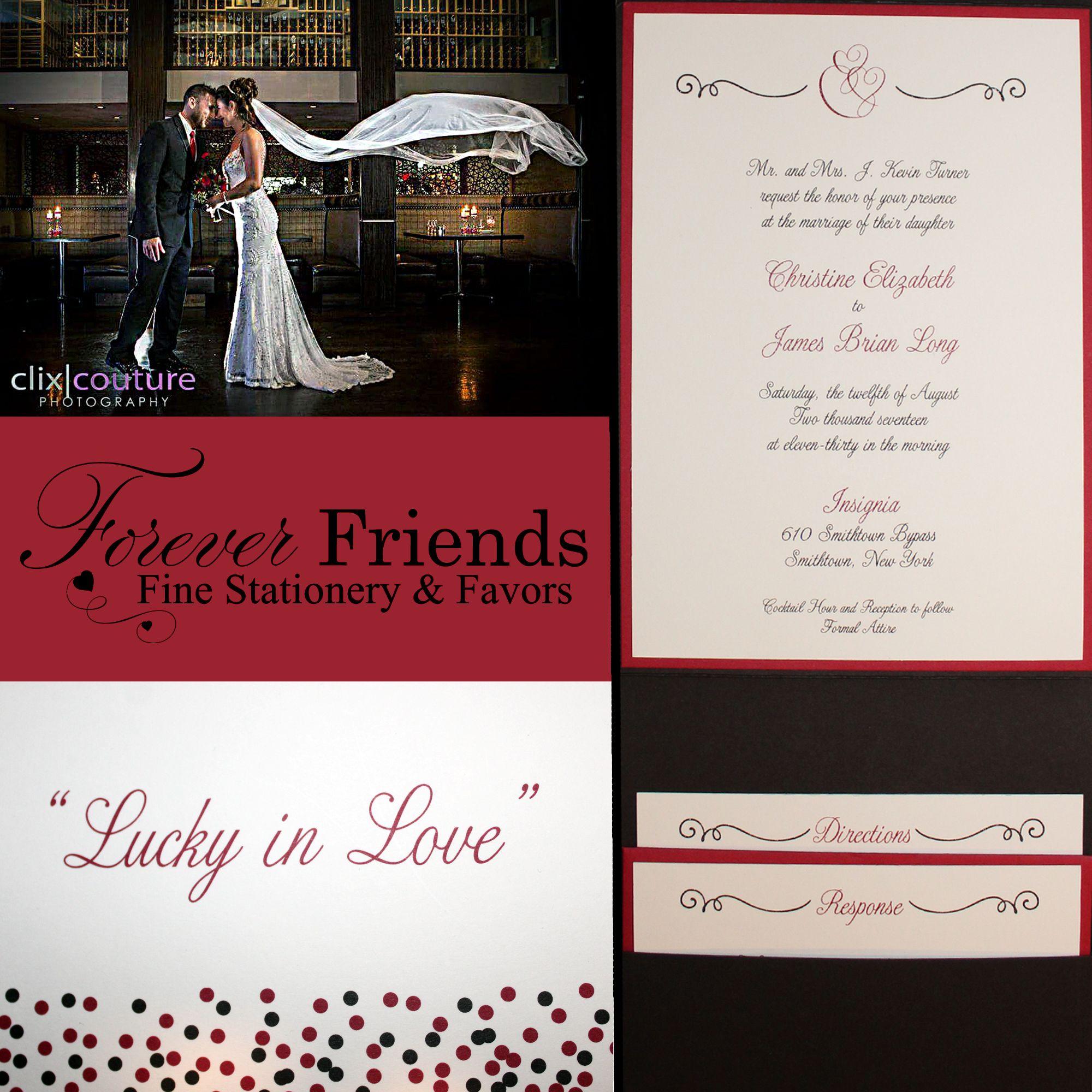 It\'s the month of love! Christine and James\'s #weddinginvitation ...