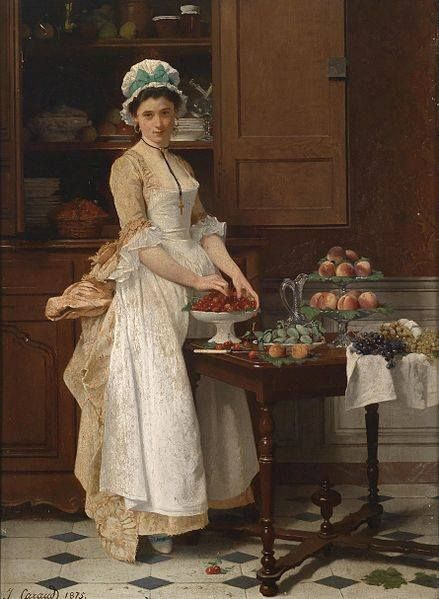 The Kitchen Maid By Joseph Caraud 1821 1905 Victorian Art