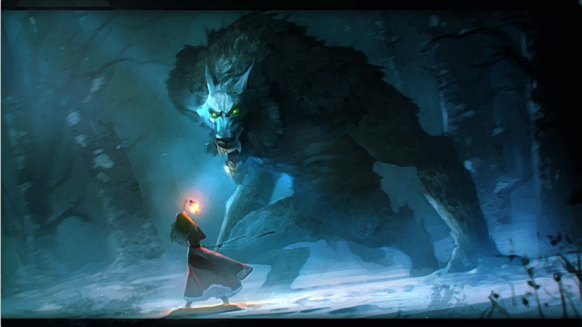 Animals Wolf Monster Anime Wallpaper Hd Wallpaper Wallshed