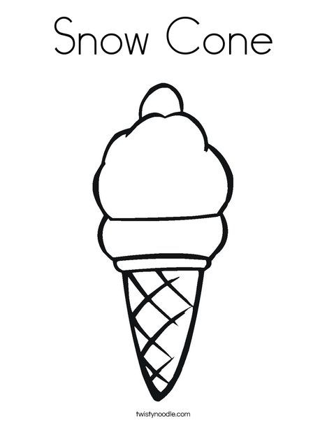 Ice Cream Coloring Page Snow Cone Coloring Page With Images