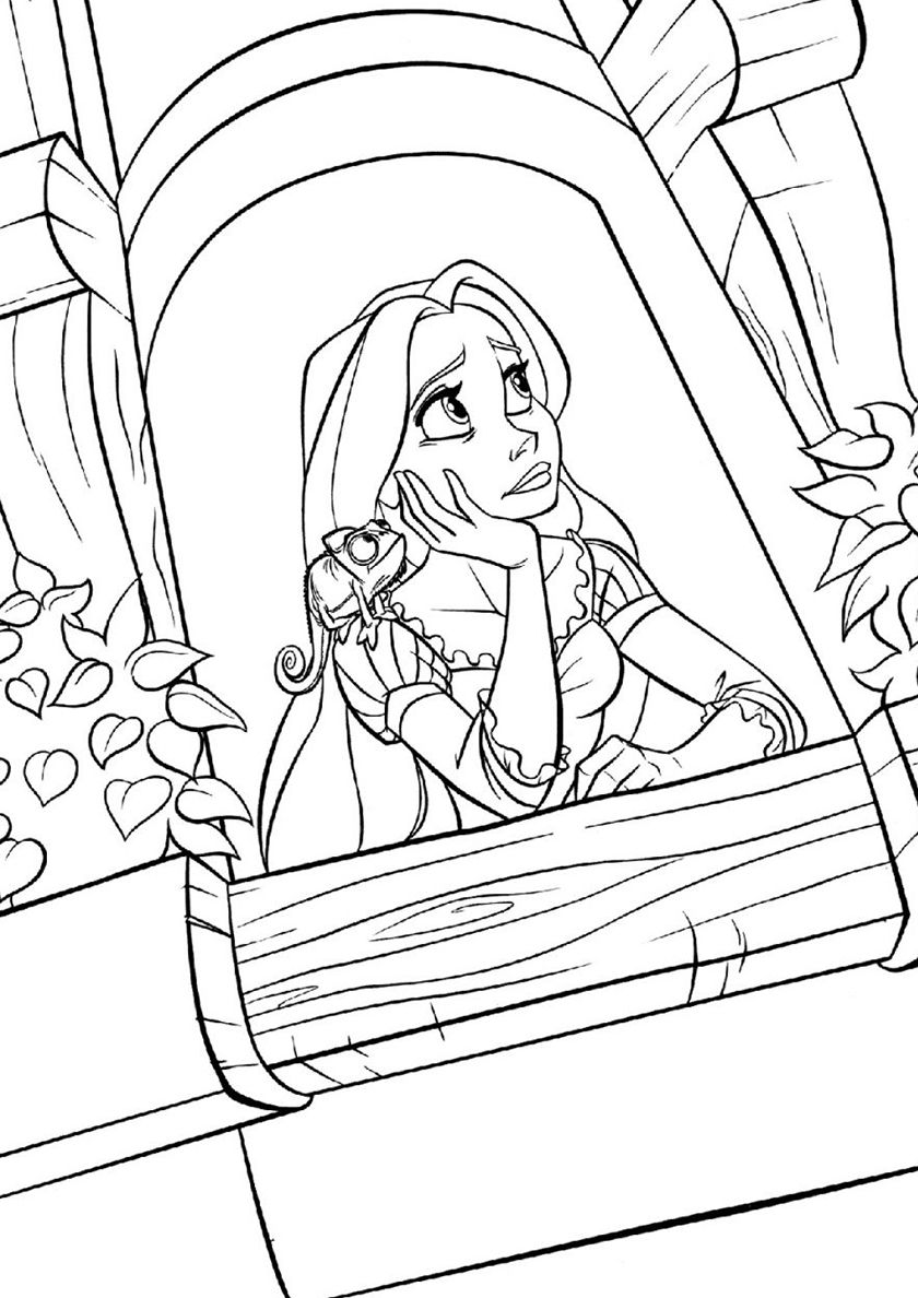 Hated Tower High Quality Free Coloring From The Category Tangled More Printab Tangled Coloring Pages Disney Princess Coloring Pages Rapunzel Coloring Pages