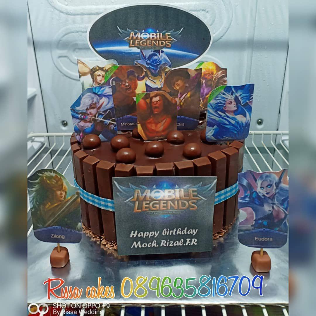 Mobile legend birthday cake . . Untuk info harga dan