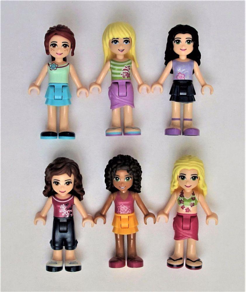 New Lego Lot Of 6 Friends Minifigures All Genuine Lego Parts Hair Girls Look Lego Lego Friends Lego Mini Figures