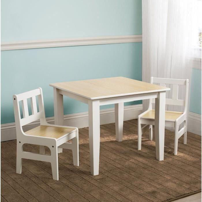 table et chaises en bois garon et fille a partir de 3 ans - Chaise Et Table Enfant