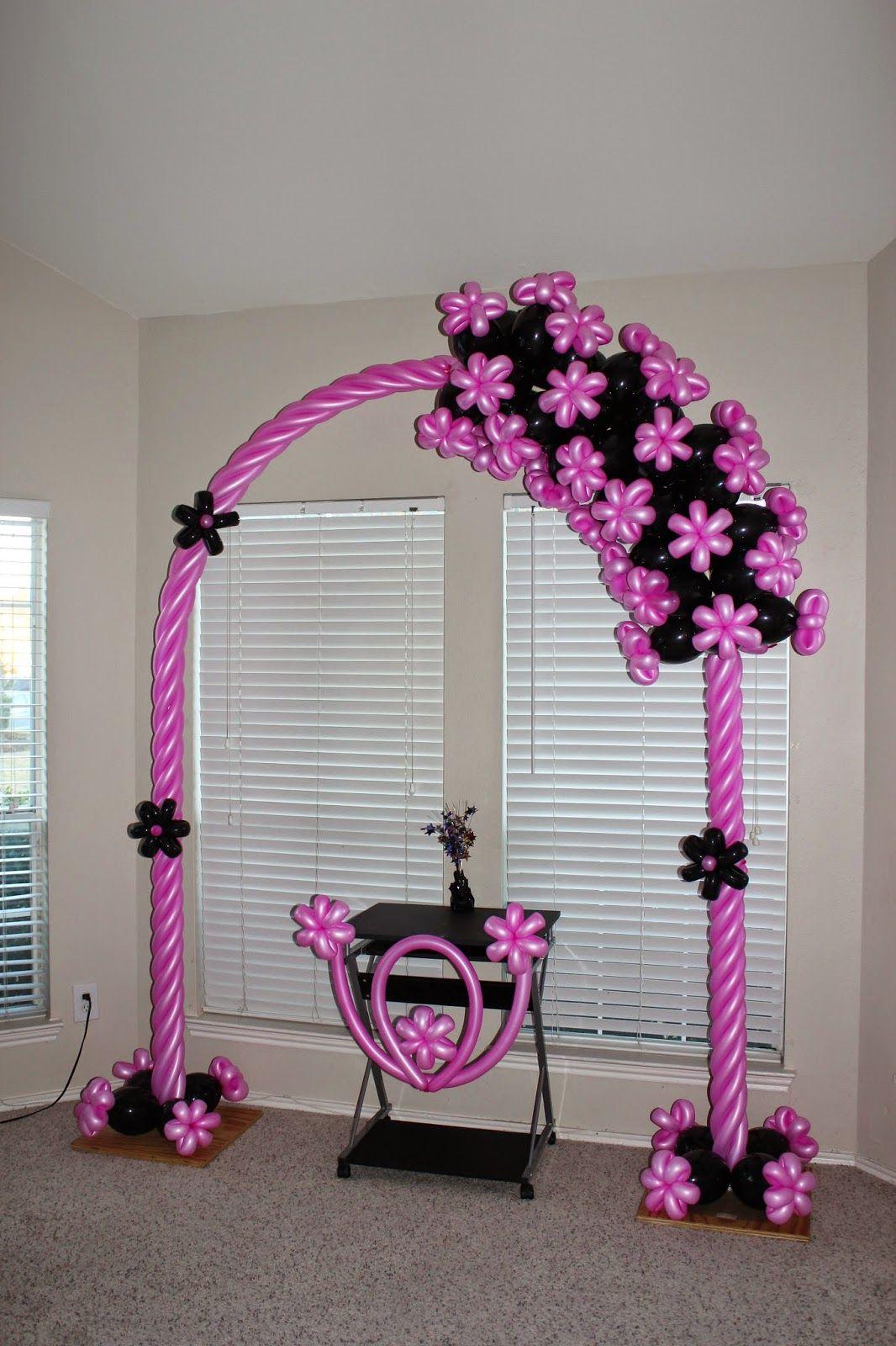 Balloon arch design santo diamond balloon design for Arch balloon decoration