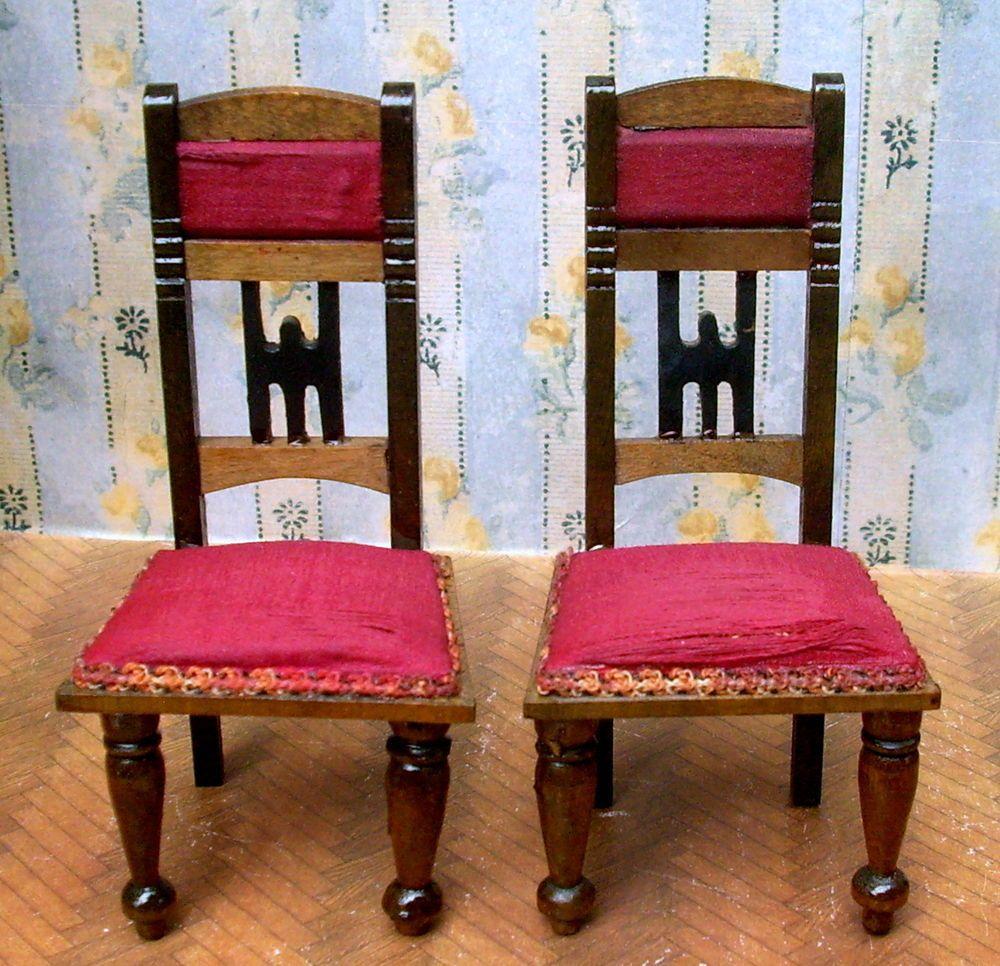 2 uralte orig salon st hle jugendstil eppendorfer nacke puppenstube um 1900 antike. Black Bedroom Furniture Sets. Home Design Ideas
