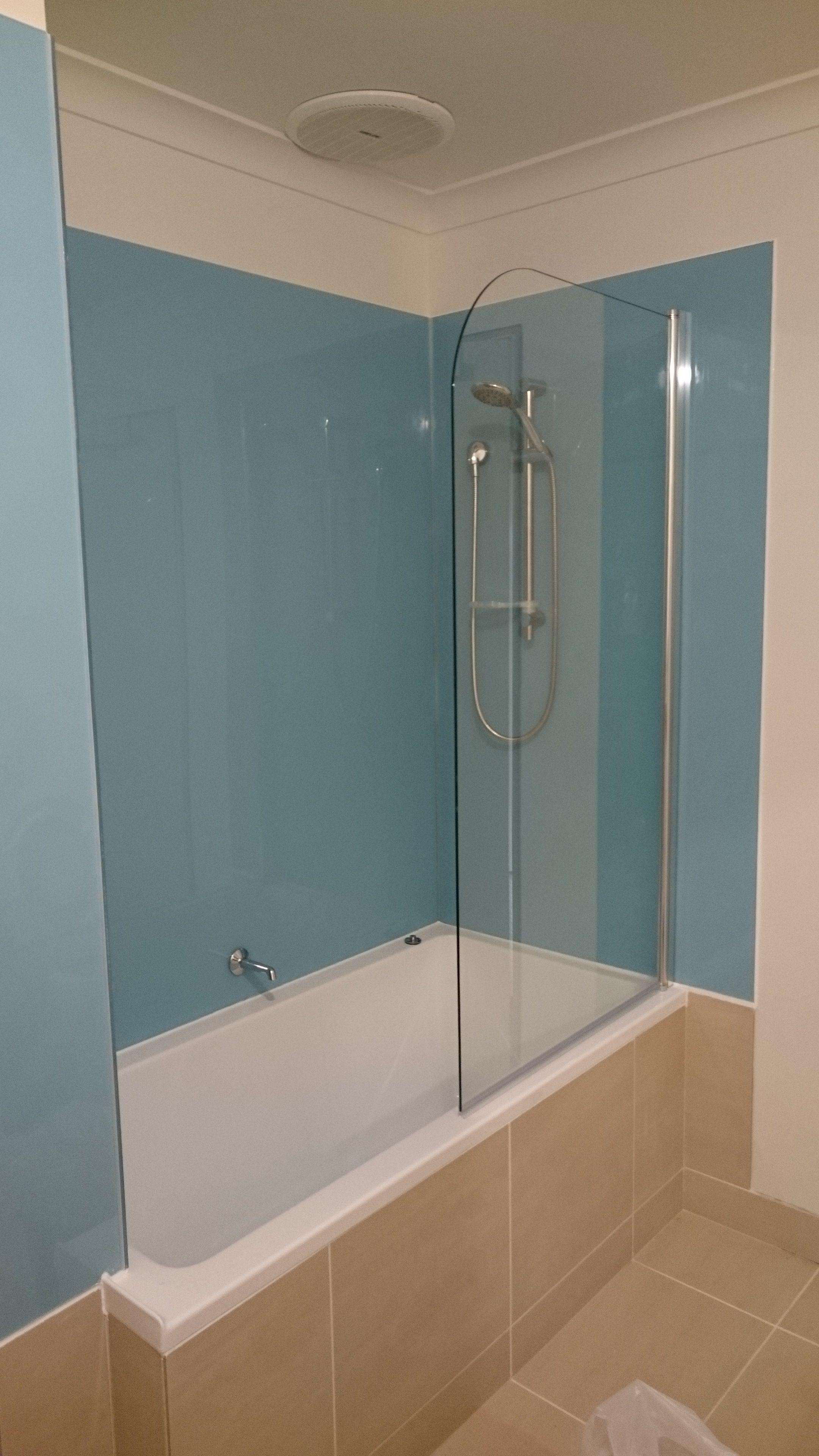 acrylic panels for bathroom walls%0A GLASS COLOUR GLACIER HIGH GLOSS GLASS EFFECT WALL PANELLING FOR SHOWER WALLS  KITCHEN SPLASH BACKS by LUSTROLITE  http   www amazon co uk dp B   UZU u