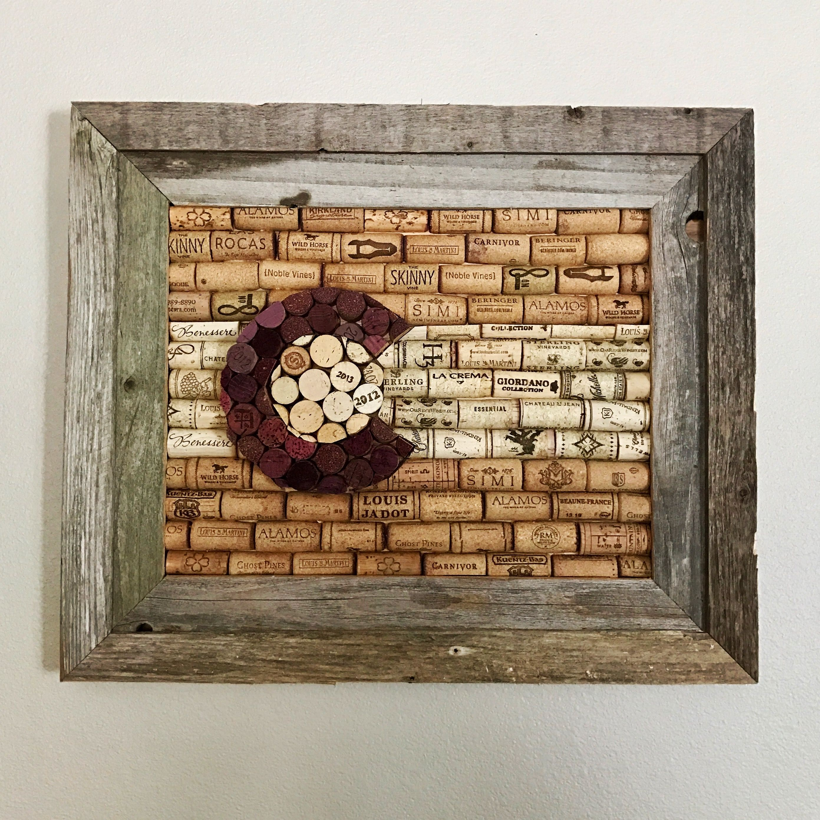 colorado state flag wine cork board in a barnwood frame | rustic