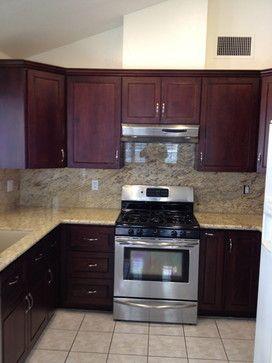 Jerry S Lvc Kitchen Kitchen Inspiration Cabinets Brown Dark