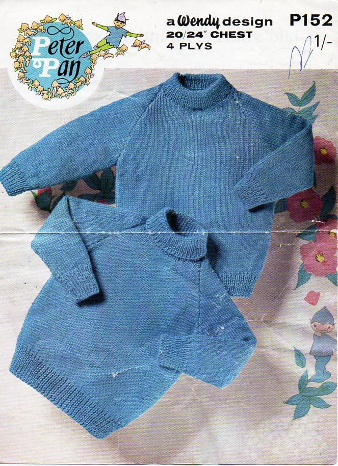 7561ede18 baby   childs sweater knitting pattern pdf 4 ply polo neck roll neck ...