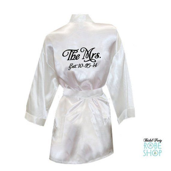99d32f0d7a The Mrs. Satin Robe with Wedding Date