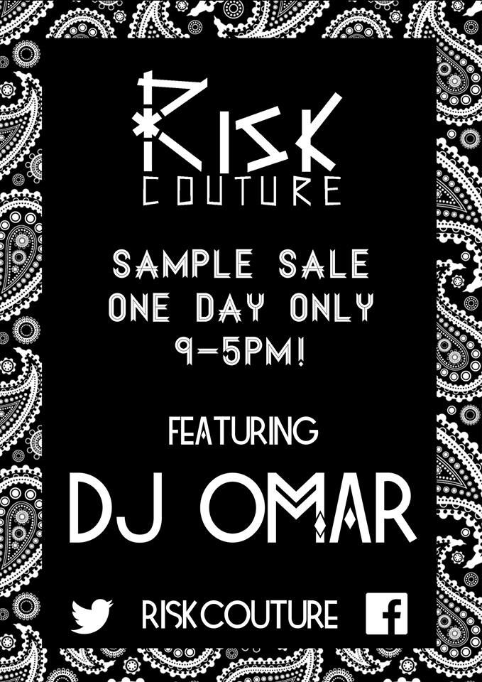 MENSWEAR BRAND RISK COUTURE POSTER EVENT