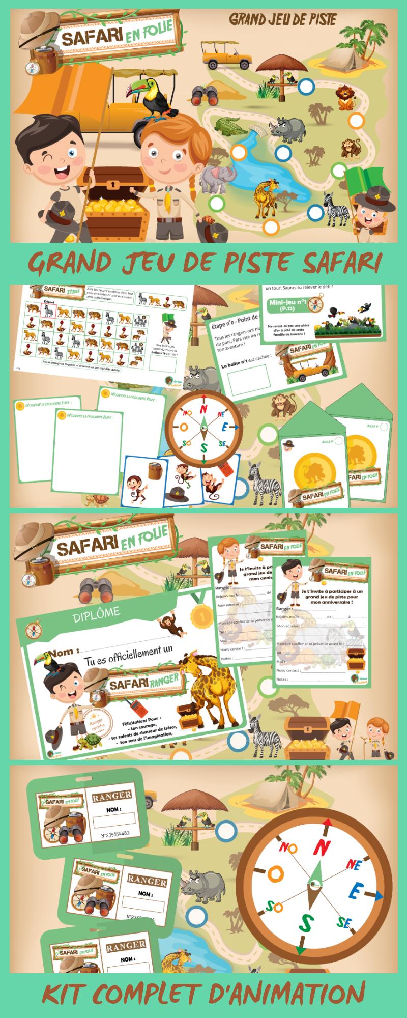 Jeu de piste - Safari en Folie (7/10 ans) | Jeu de piste, Theme centre de loisir et Idée jeu de ...