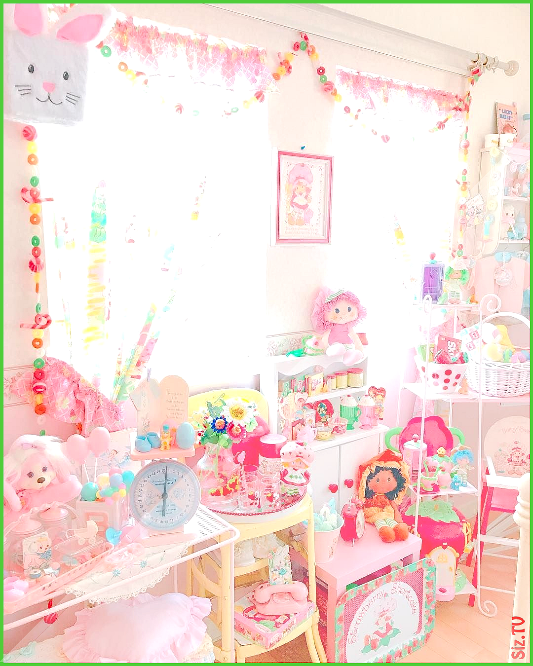 Kawaii Toy Room Pastel From The 80s and 90s www CuteVintageToys Hundreds Of Kawaii Vintage Toys Fro