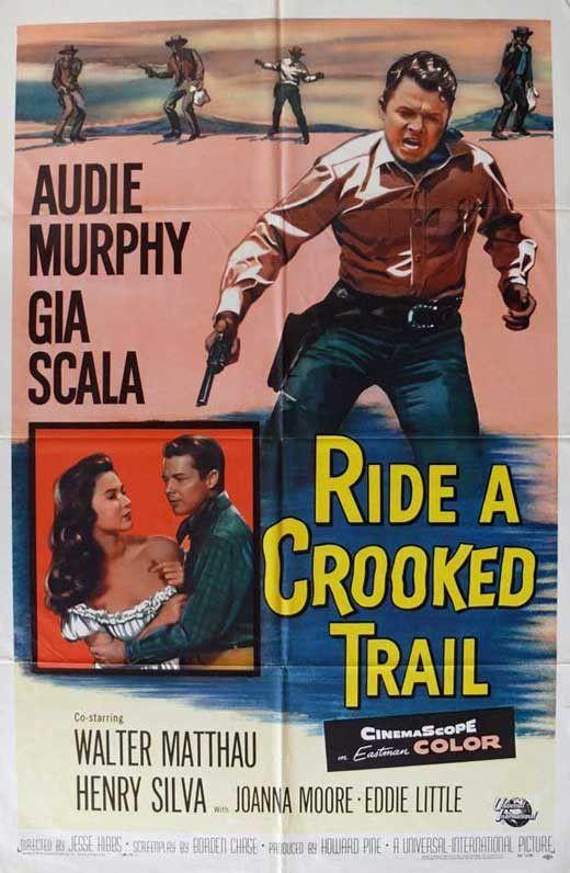 Ride A Crooked Trail 1958 Audie Murphy Dvd Walter Matthau Henry Silva Western Movies