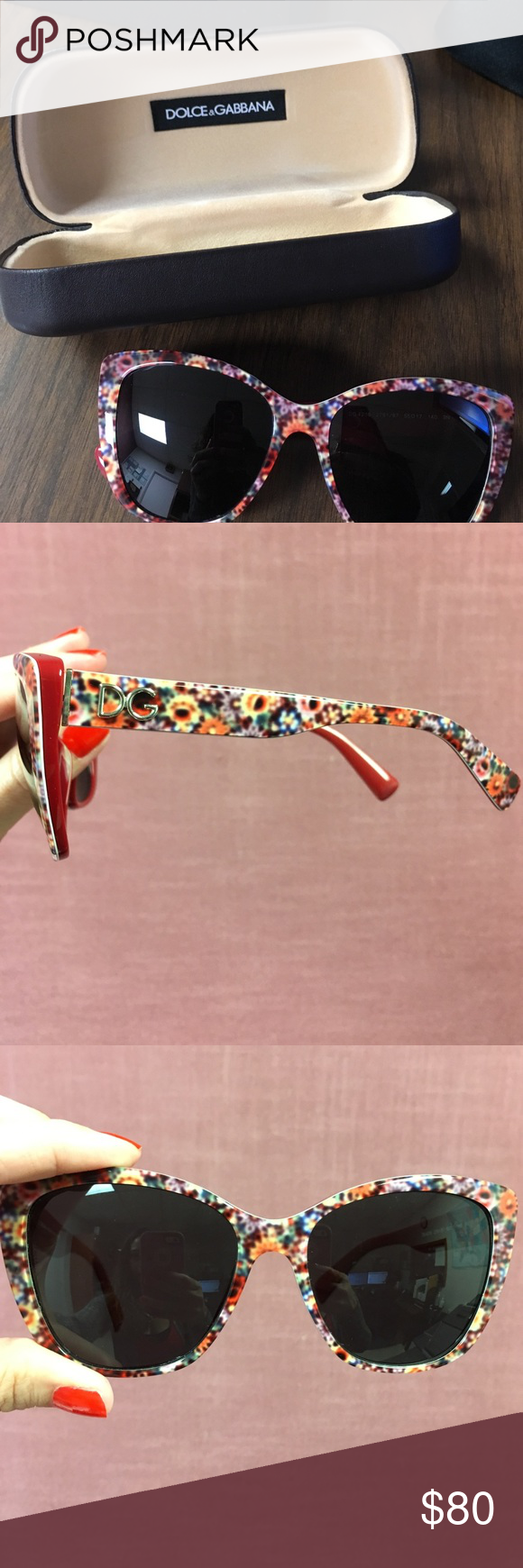 378873331253 These are the Dolce Gabbana frame in mix red   lenses grey.  DG4216-2791 87  Dolce   Gabbana Accessories Sunglasses