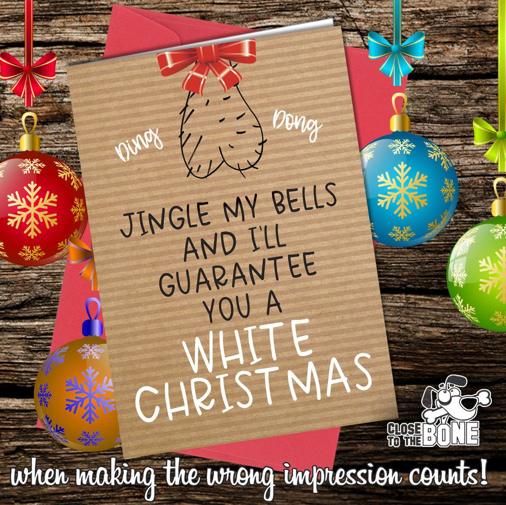 332 Christmas Card Rude Greeting Card Funny Humour Joke Sex Jingle