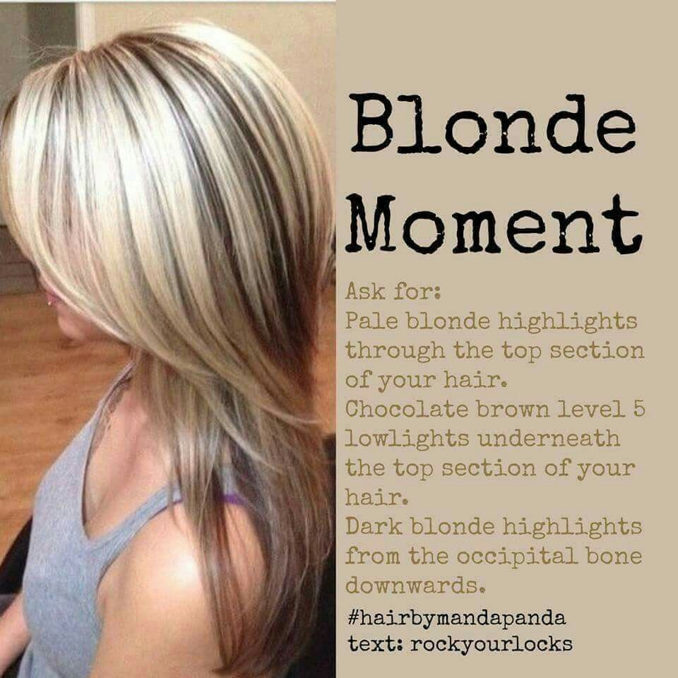 Blonde Moment Pale Blonde Highlights Chocolate Brown Underneath