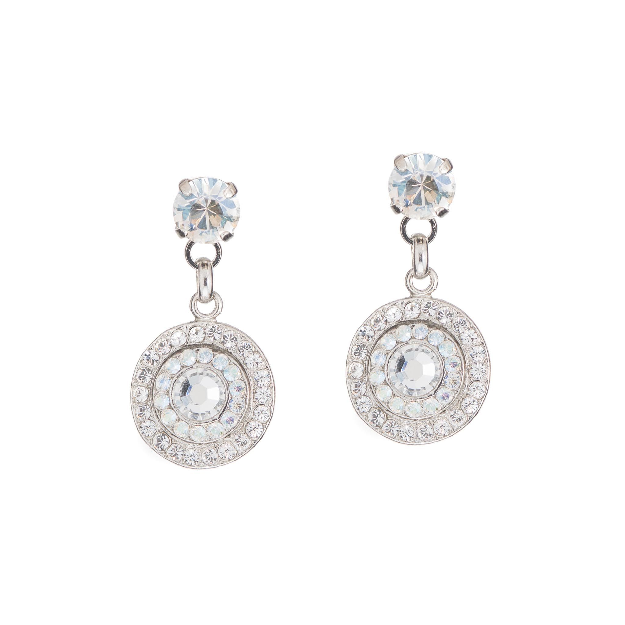 Stunning white gold and Swarovski crystal earrings