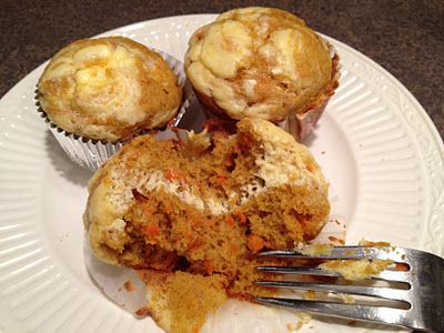 Carrot Pumpkin Muffins with Cream Cheese Filling