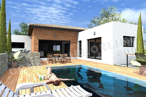 plan maison contemporaine toit plat - Recherche Google maison - plan de maison moderne a etage gratuit