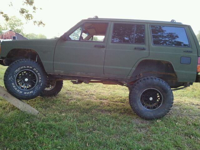 Line X Od Green Better Than Humvee Jeep Cherokee Forum Jeep