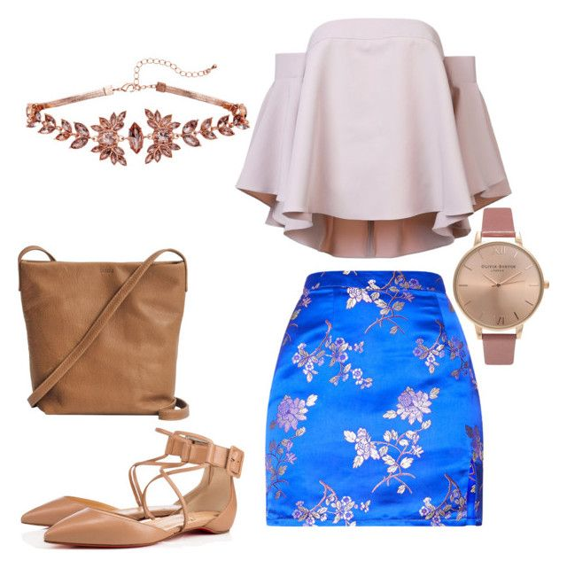 """""""Somewhat Classy"""" by tranisew on Polyvore featuring Milly, Christian Louboutin, BAGGU and Olivia Burton"""