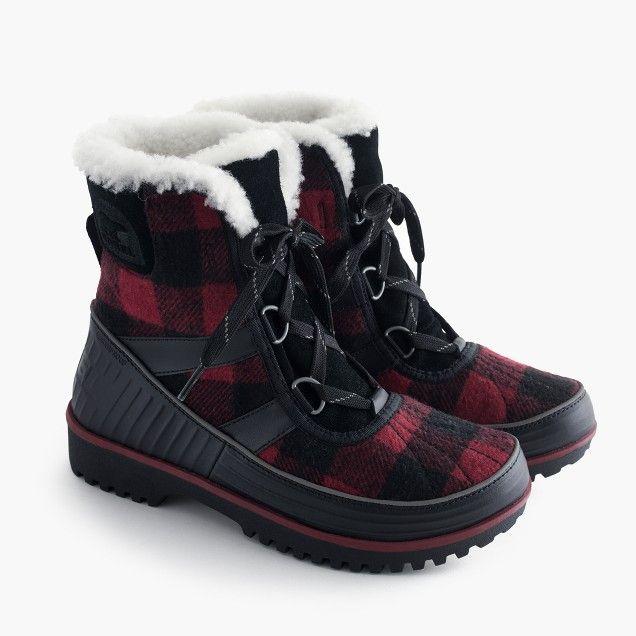 new product d517d f915f Women's Sorel® for J.Crew Tivoli™ boots in buffalo check ...