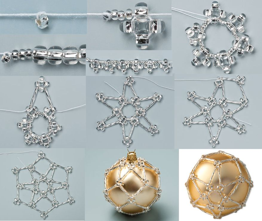 Beaded Christmas Ornaments Patterns.Free Beaded Christmas Ornament Pattern Featured In Sova