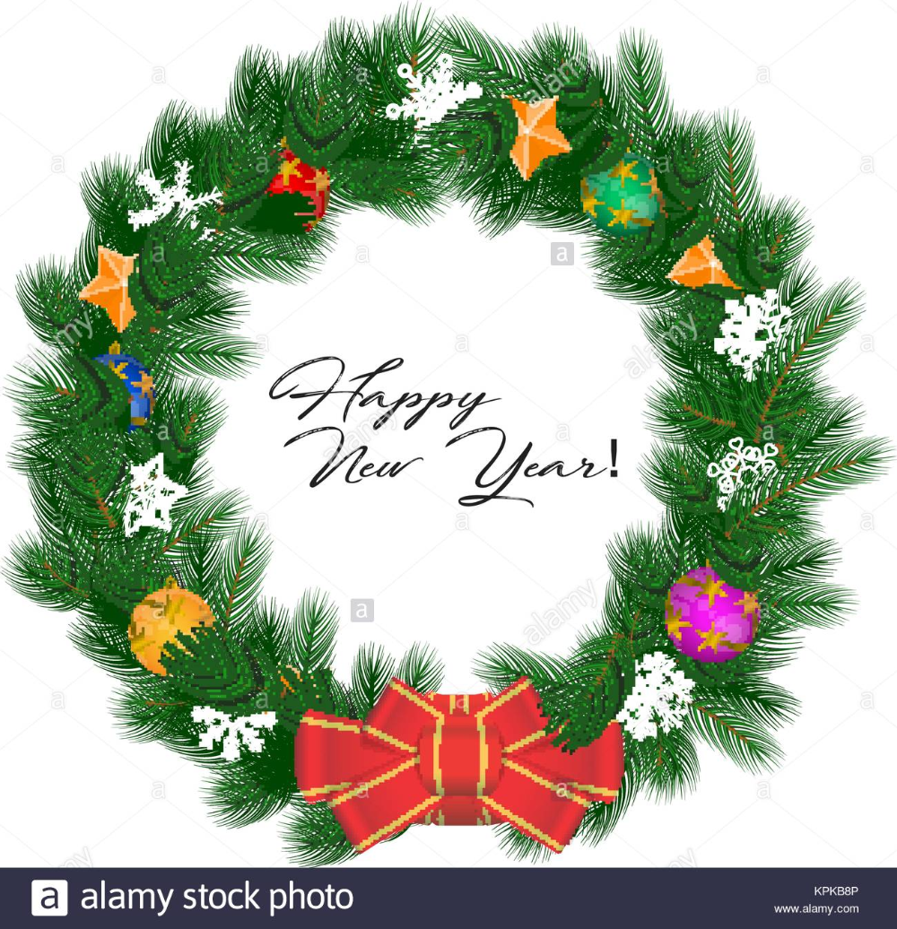Download this stock vector Christmas Wreath Vector